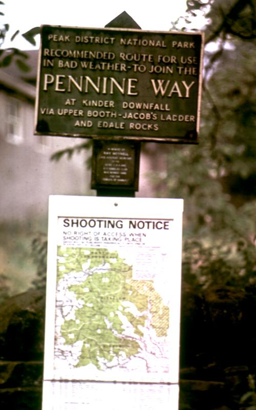 Sign at start of Pennine Way