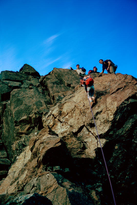 Abseil from Sgurr Dubh Beag to join ridge to Sgurr Dubh Mor