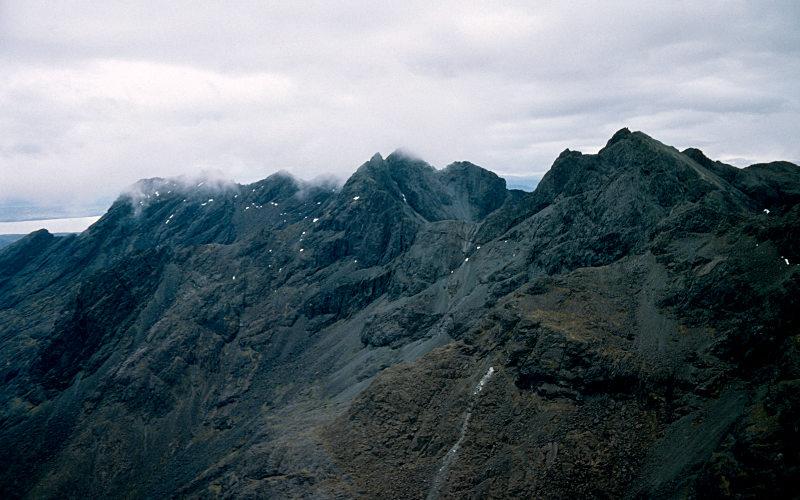 View back south along ridge