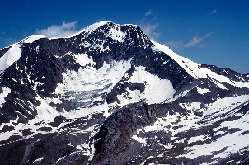 Weissmies, from my reconnaissance peak, Almagellhorn