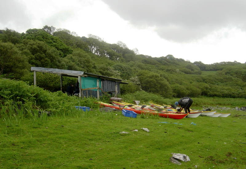 A handy roof over our heads on Ulva