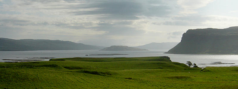 Looking up Loch na Keal to Eorsa