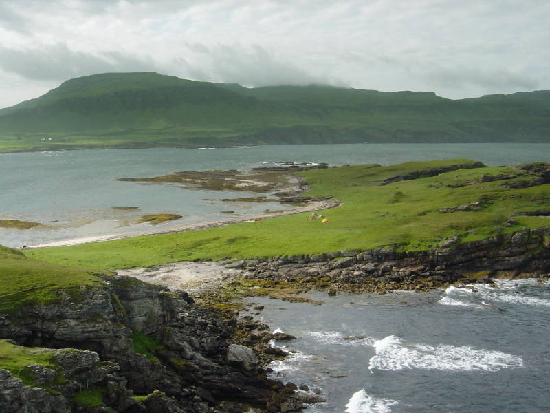 Wilderness coast over Inch Kenneth