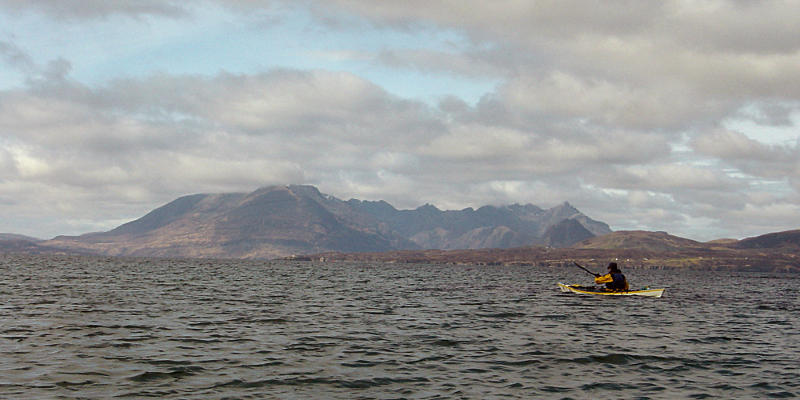 The Cuillin Hills just coming free of cloud after lunch at Inver Dalavil. Photo: Andy Waddington.