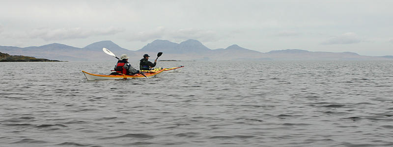 Paddling past the northern tip of Gigha. Photo: Andy Waddington.