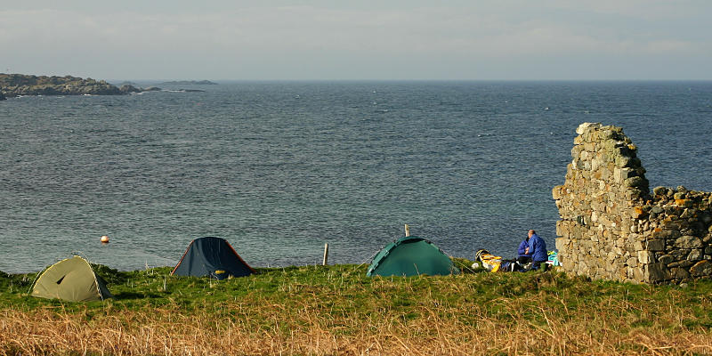 Camping on the north of Cara. Photo: Andy Waddington.