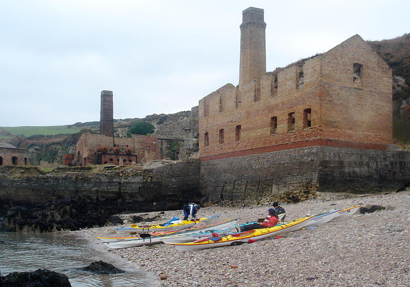 The old brick works on the north coast of Anglesey is a remarkable bit of industrial archaeology, still more easily reached from the sea than the land. Photo: Andy Waddington