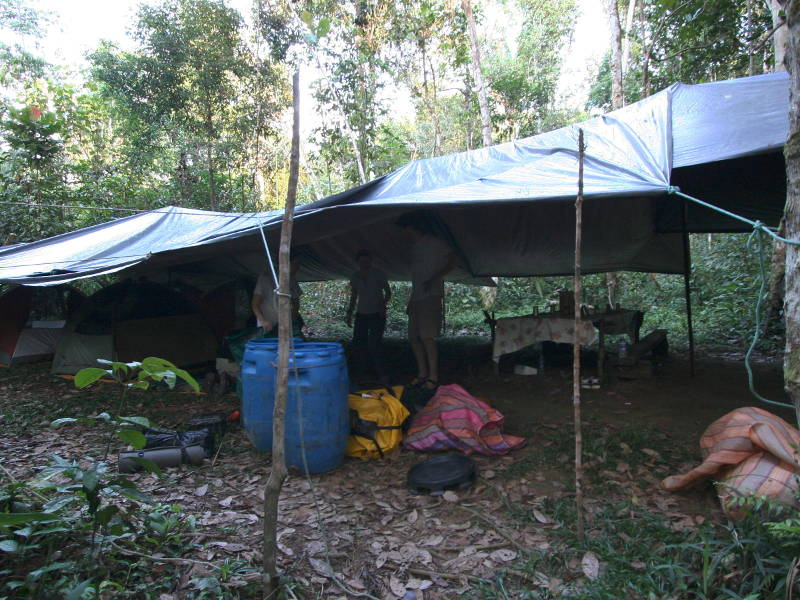 First camp, Rio Cuyabeno