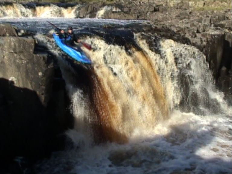 Sarah paddling Low Force