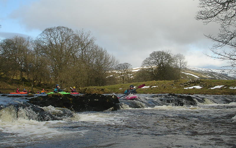 Rocky step early on the Middle Wharfe. Photo: Andy Waddington.
