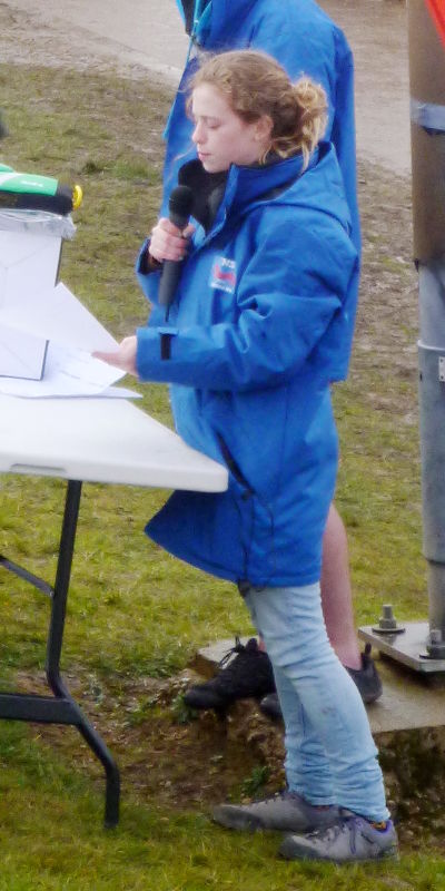 Sarah giving out the prizes at NSR 2015