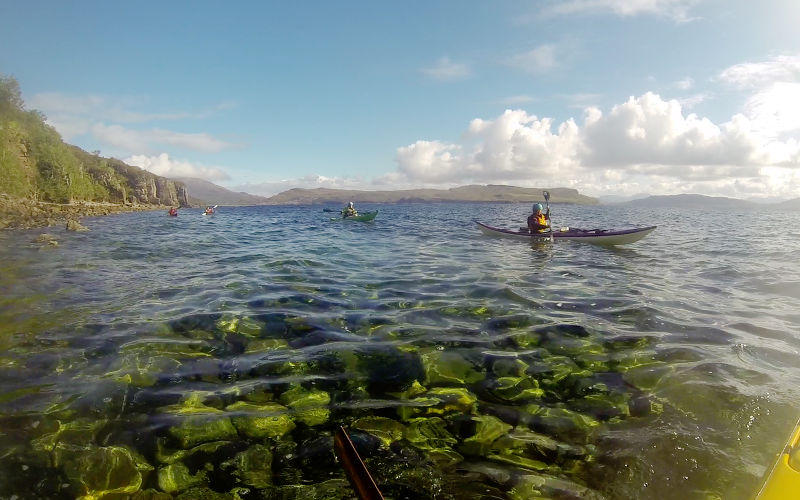 Paddling SSW from Kilmarie